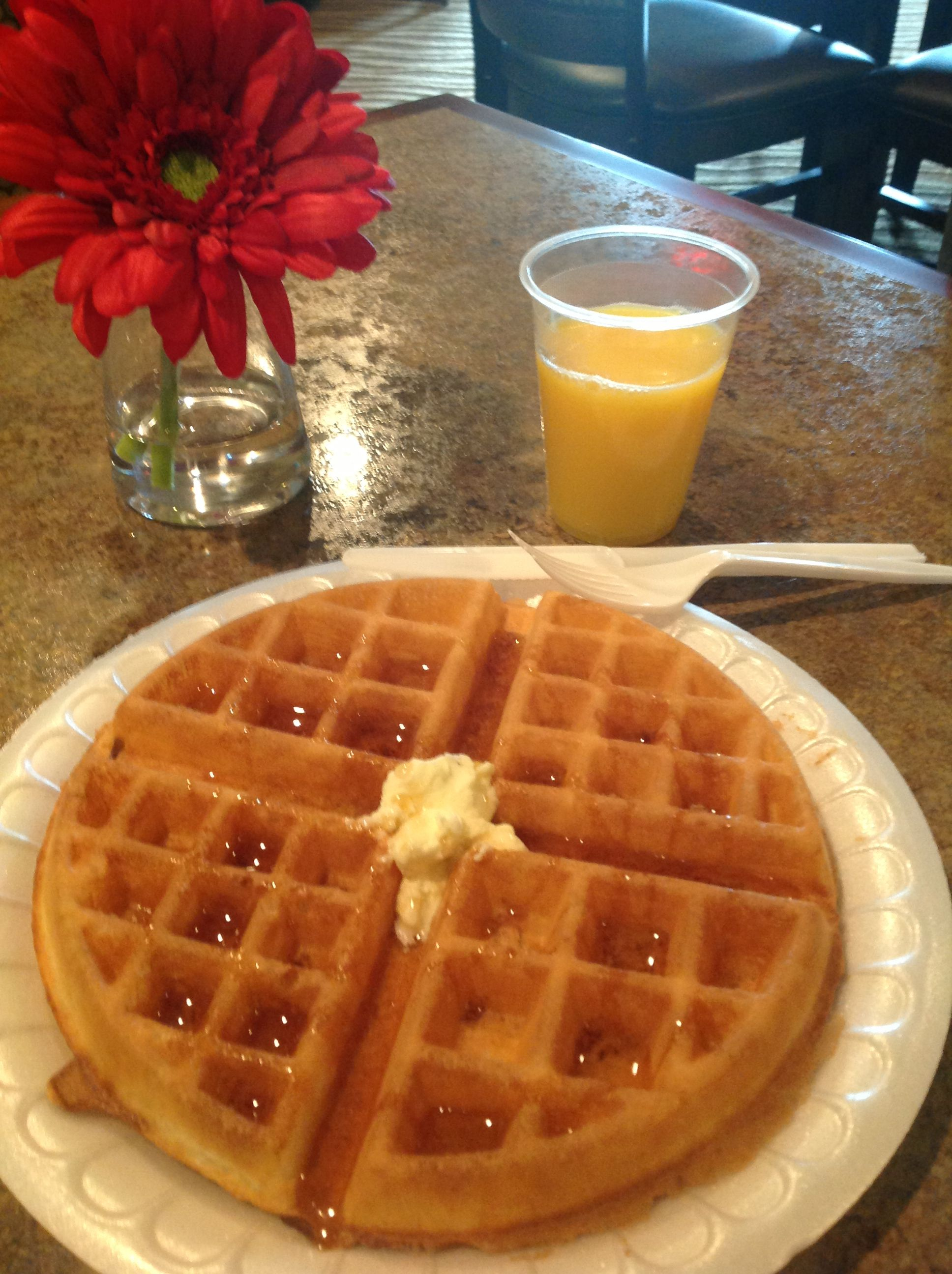 Waffles At Crossings Inn Suites Of Parkers Prairie With Images