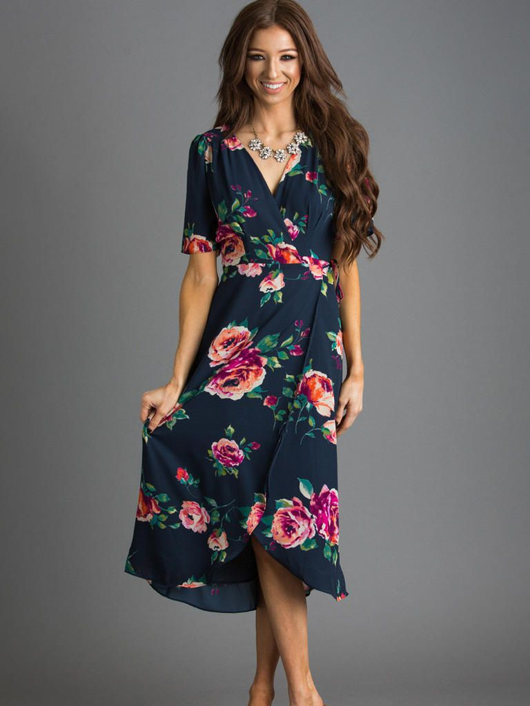 Guest Attire 15 Floral Dresses Perfect For Summer Weddings Guest Attire Fashion Wrap Dress Floral [ 1024 x 768 Pixel ]