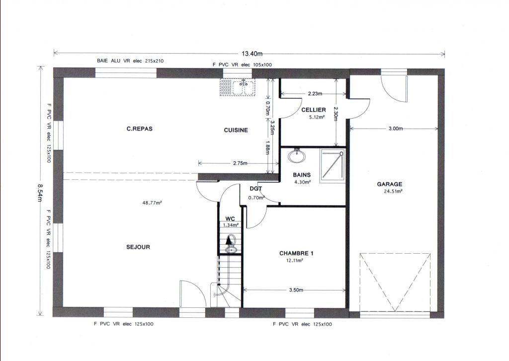 Résultats de recherche du0027images pour « plan de maison 4 chambres à