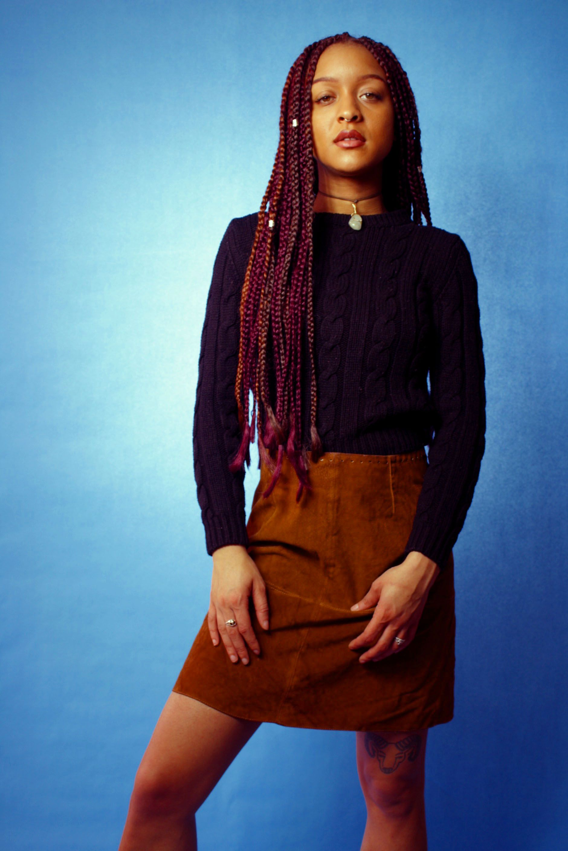 Patty naturalhair boxbraids photography editorial fashion