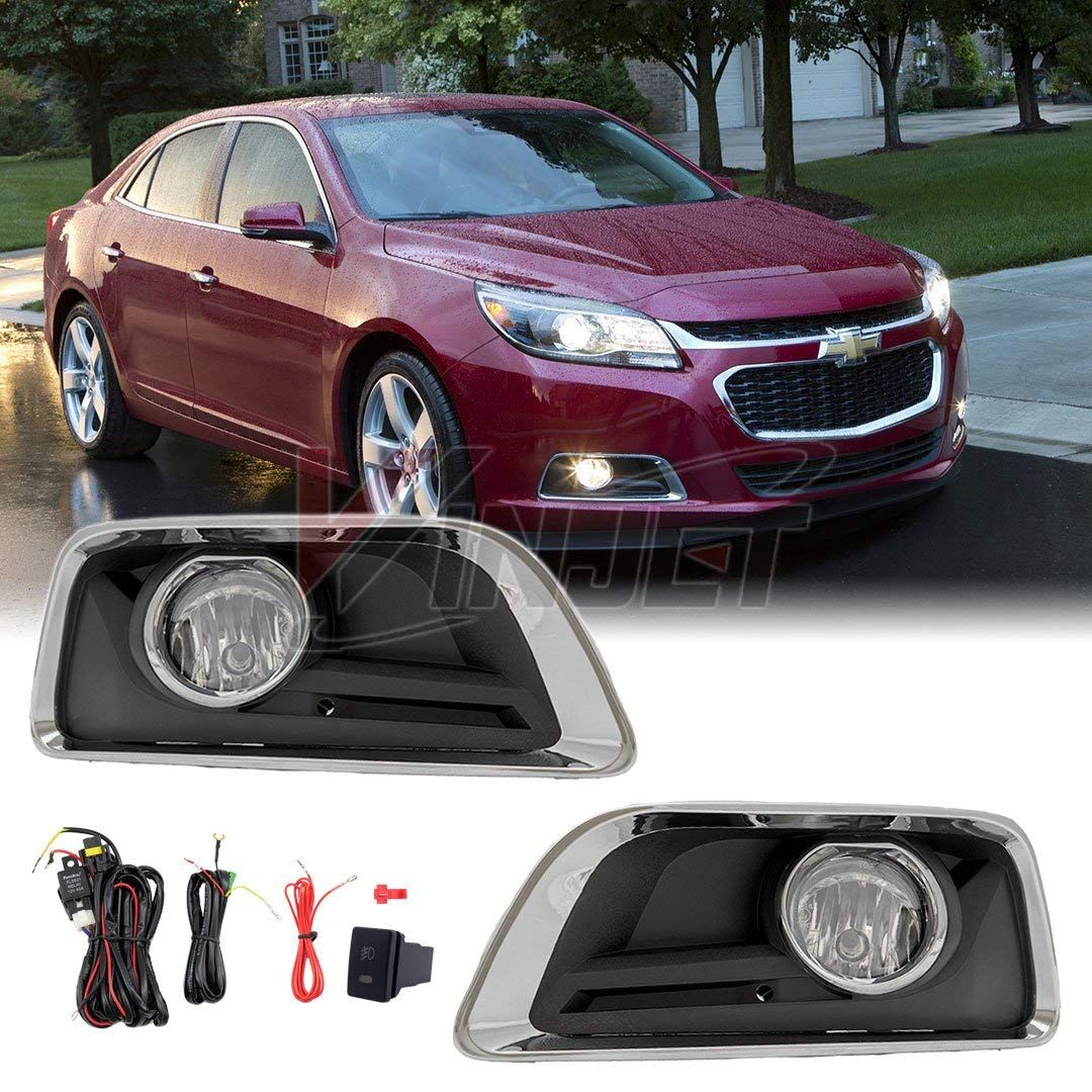 Amazon Com Winjet 2013 2015 Chevy Impala Clear Fog Light Full Kit Wiring Switch And Bezels Included Autom Chevy Malibu 2015 Chevy Malibu Chevrolet Malibu