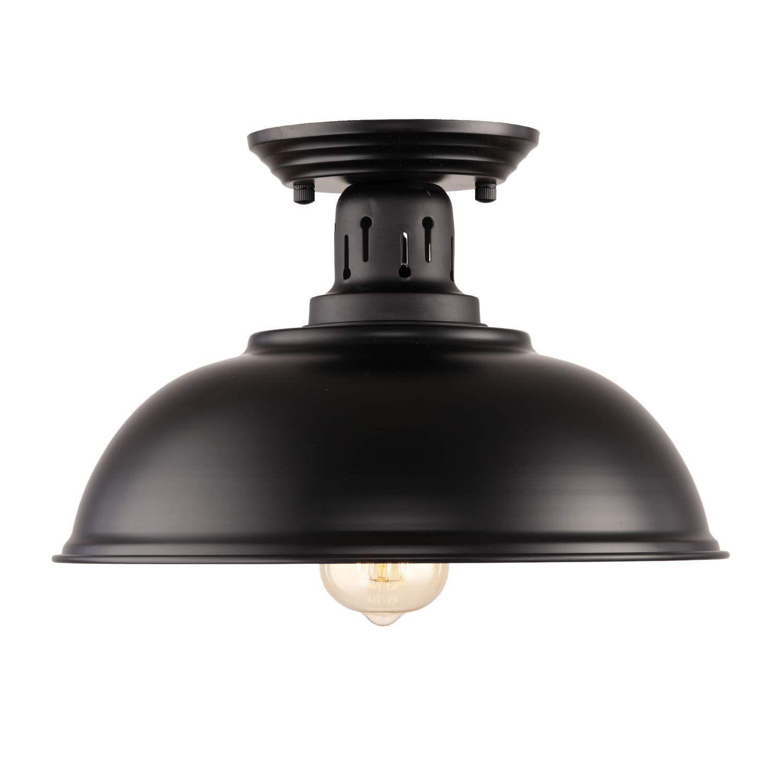 Hmvpl semi flush mount ceiling light fixture farmhouse