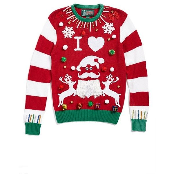 Junior Ugly Christmas Sweater 'Make Your Own - Red Stripe' Sweater ...