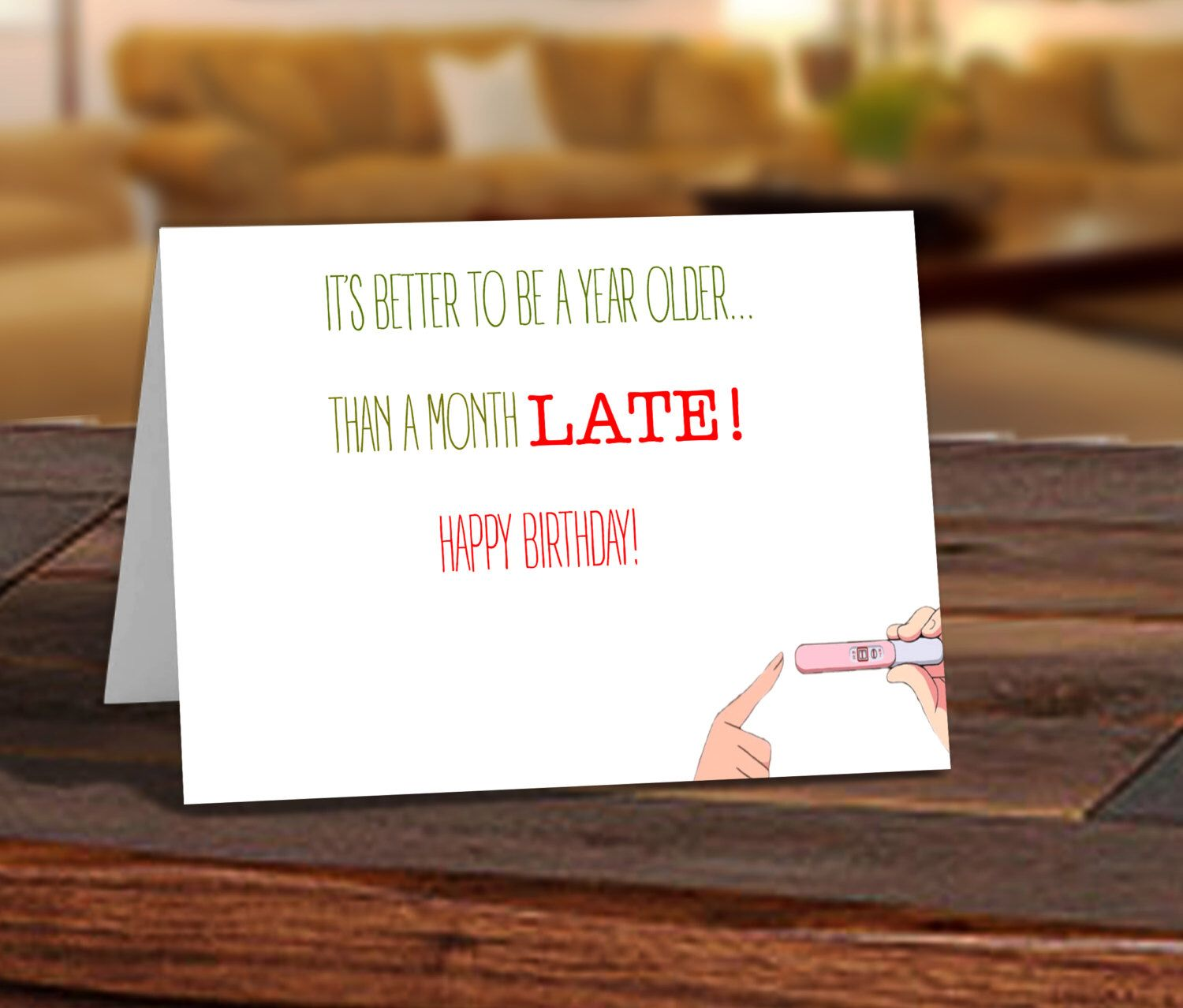 Funny Birthday Card Printable Card Better Than Being Late – Happy 21st Birthday Cards to Print