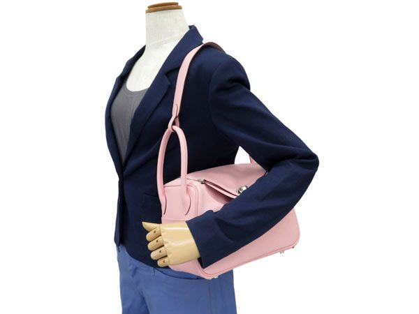 Gallery Rare | Rakuten Global Market: Hermes handbags Lindy 26 rose Sakura x silver metal VOR swift X stamped HERMES bags