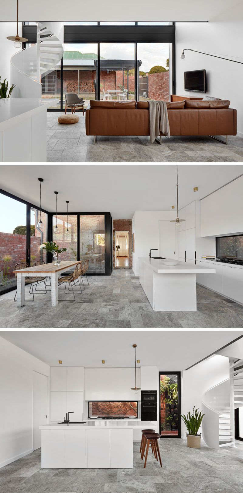 Modscape Added A Modern Extension With A Mezzanine Bedroom To A Brick House In Australia Interior Design Kitchen Contemporary Mezzanine Bedroom Interior Design Kitchen Small