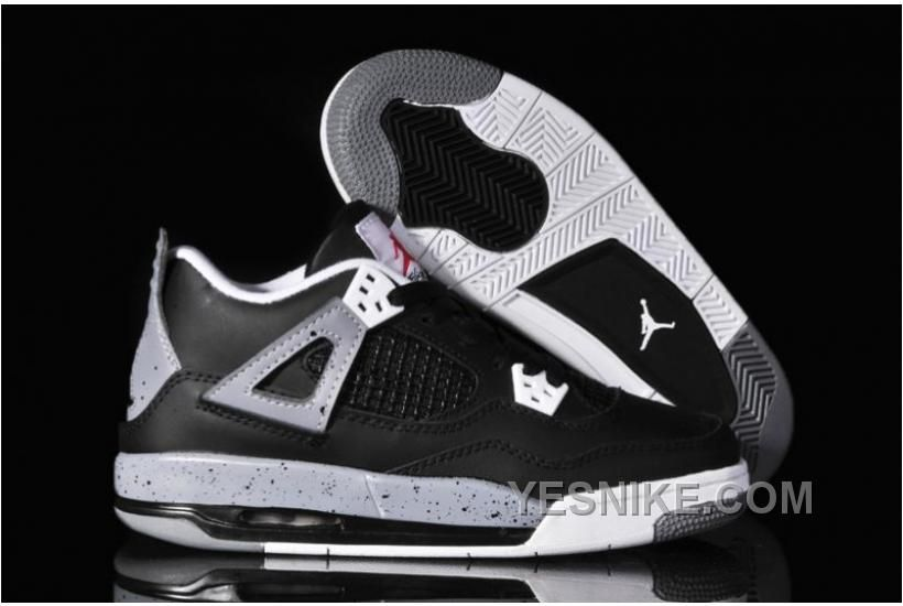 Buy Low Cost Nike Air Jordan 4 Iv Oreos Womens Shoes Black Cemenst Grey  from Reliable Low Cost Nike Air Jordan 4 Iv Oreos Womens Shoes Black  Cemenst Grey ... 9fe41fccf3