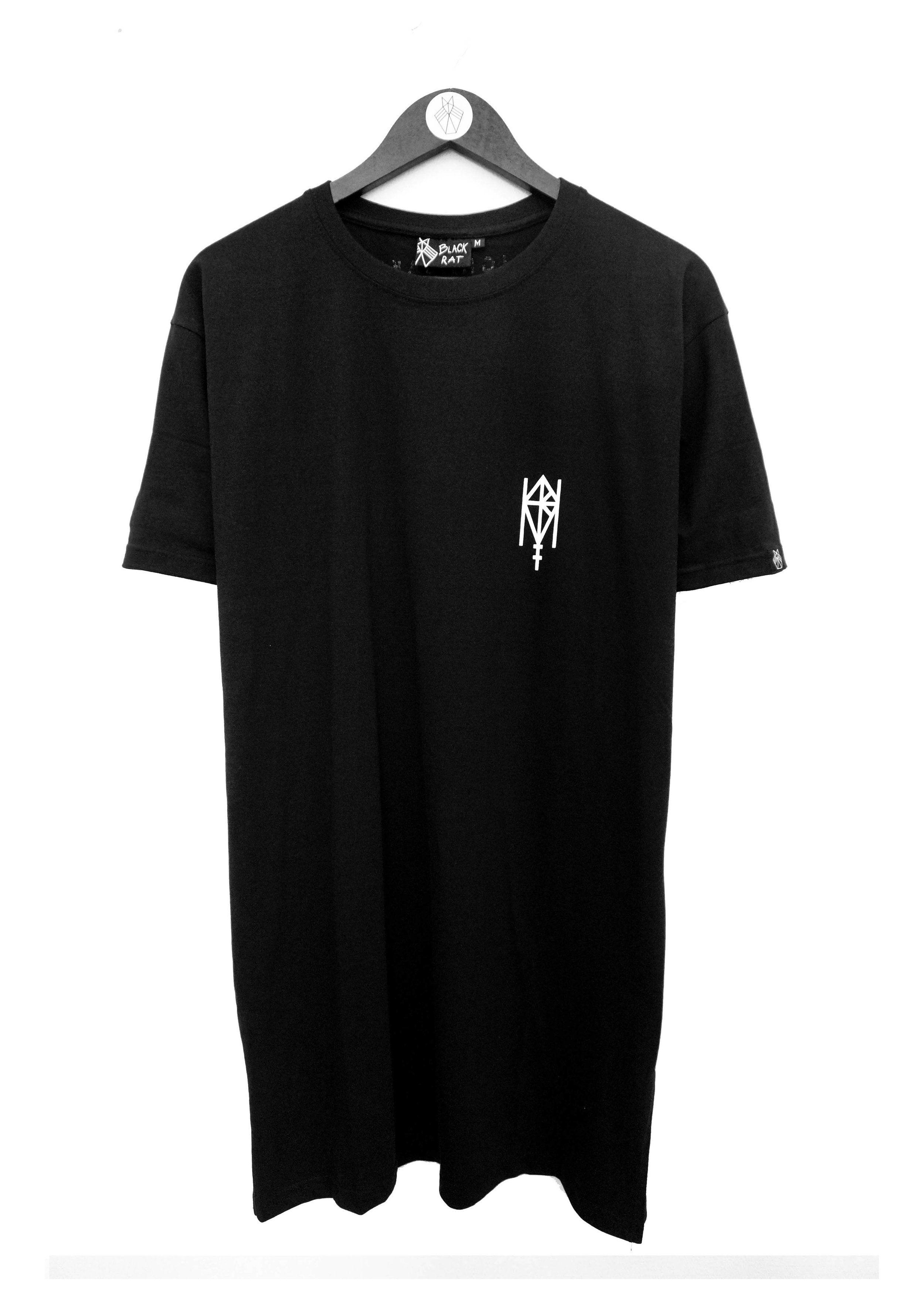 Long t-shirt with print, merch from the Norwegian band Highasakite. Made by: Black Rat Clothing - Oslo. Designer Siri Sveen Haaland.