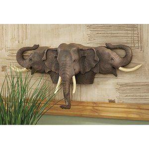 Design Toscano Raised Expectations Elephant Wall Sculpture Walmart Com Elephant Home Decor Elephant Decor Elephant Sculpture