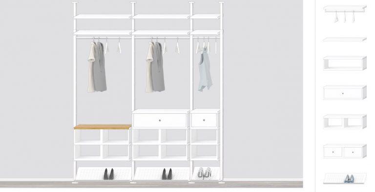 Una cabina armadio low cost con ERVARLI di Ikea | Very Vittoria ...