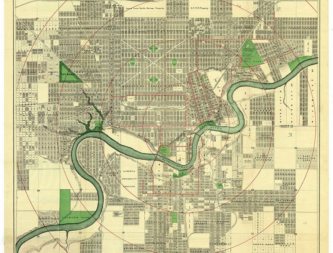 Driscoll and Knight Map of the City of Edmonton 1912. Image courtesy on