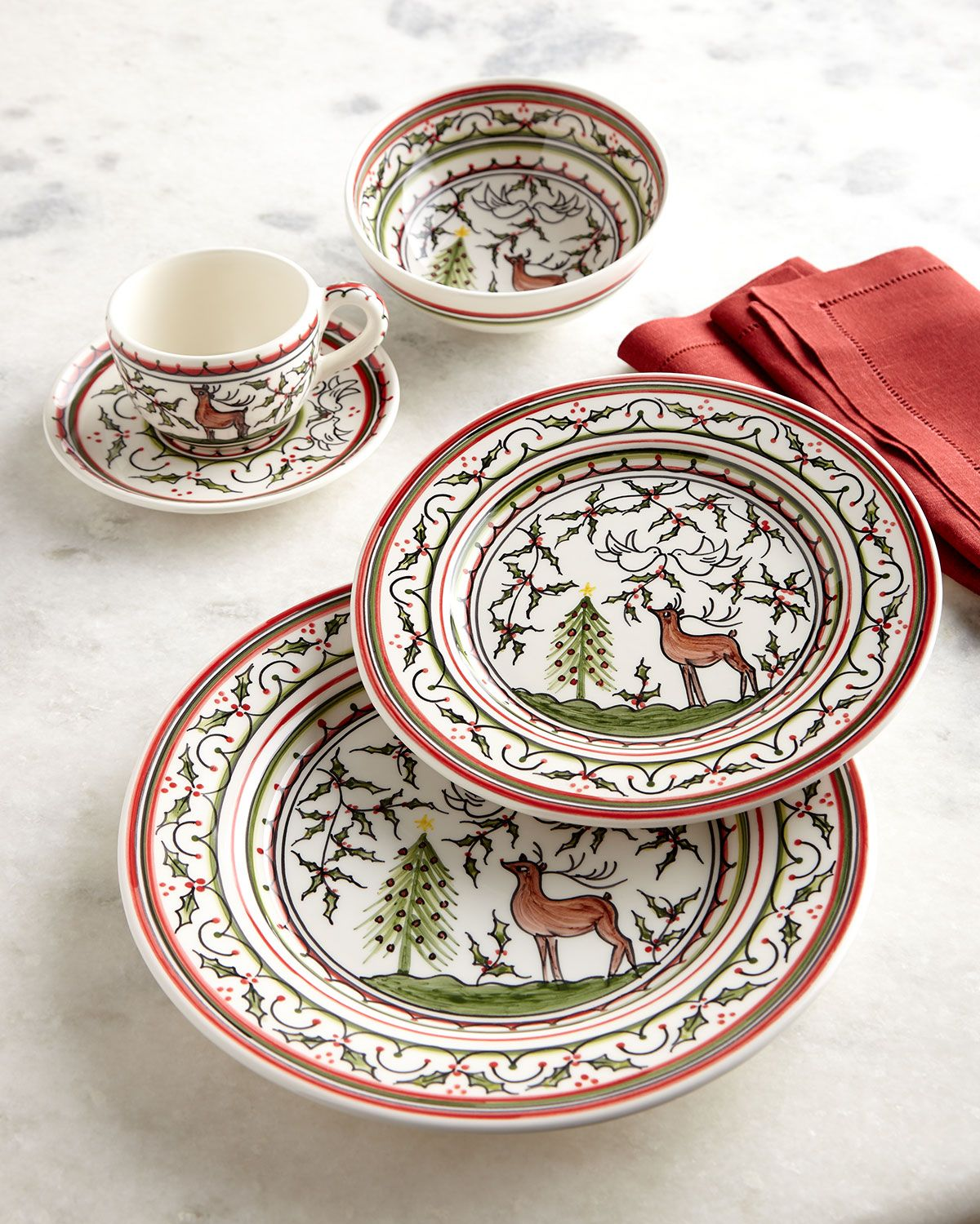 Pre Cooked Christmas Dinner From Neiman Marcus 2020 Neiman Marcus Christmas Pavoes 20 Piece Dinnerware Set in 2020