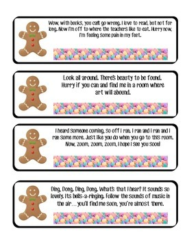 Gingerbread Man Scavenger Hunt Clues Scavenger Hunt Clues