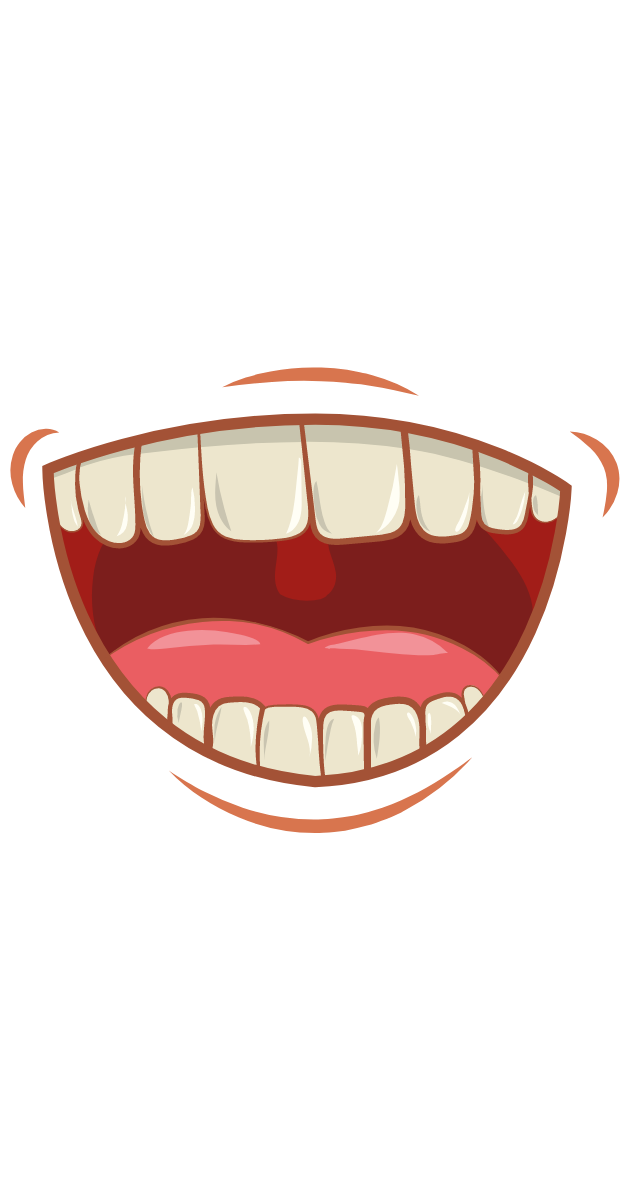 Laughing Mouth With Teeth Funny Stickers Cartoon Stickers Laugh