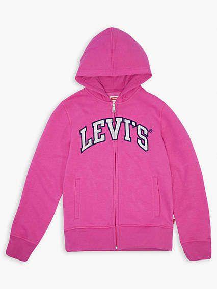 1724480f Girls 7-16 Levi's® Logo Hoodie | Products | Hoodies, Sherpa hoodie ...