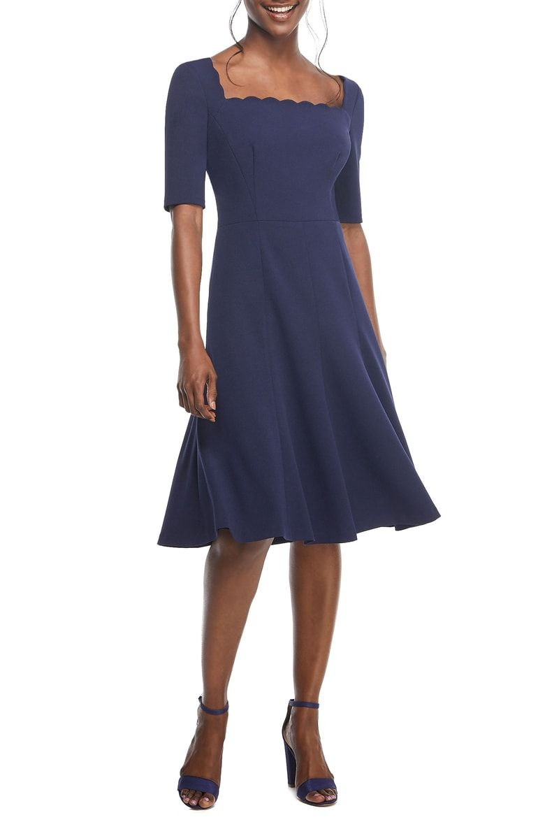 Gal Meets Glam Collection Maria Scallop Scuba Crepe Fit Flare Dress Nordstrom Exclusive Nordstrom Fit Flare Dress Fit N Flare Dress Nordstrom Dresses [ 1196 x 780 Pixel ]
