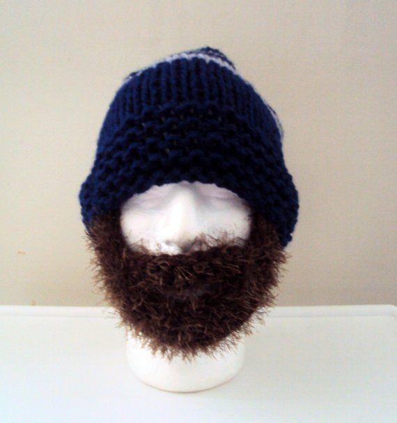 1c34366815e Mens Chunky Beard Hat Beanie Knit Beanie Face Mask Winter Hat Snowboard Hat  Ski Hat