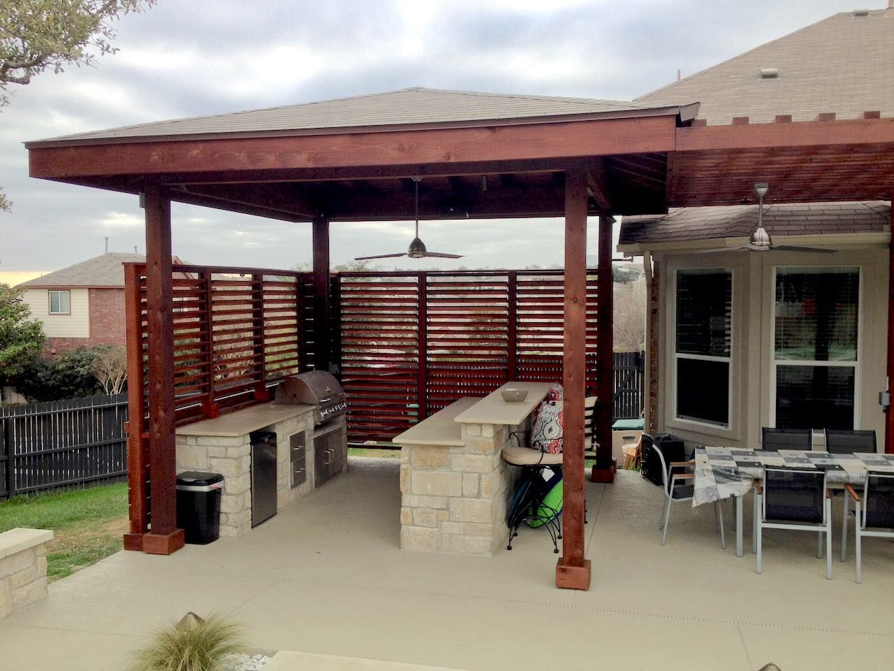 Louvered Outdoor BBQ Enclosure | Patio in 2019 | Louvered ...