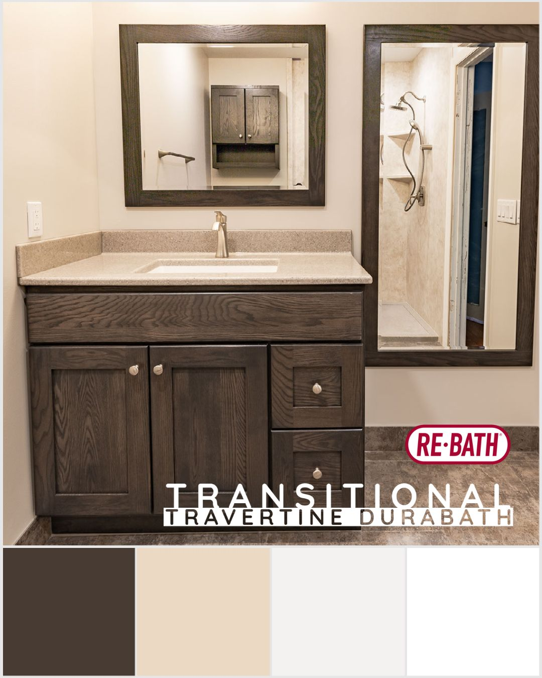 You Do Not Need A Crazy Bold Design For Your Bathroom To Make A Statement This Small Transitiona Bathroom Fixtures Brushed Nickel Bathroom Bathrooms Remodel