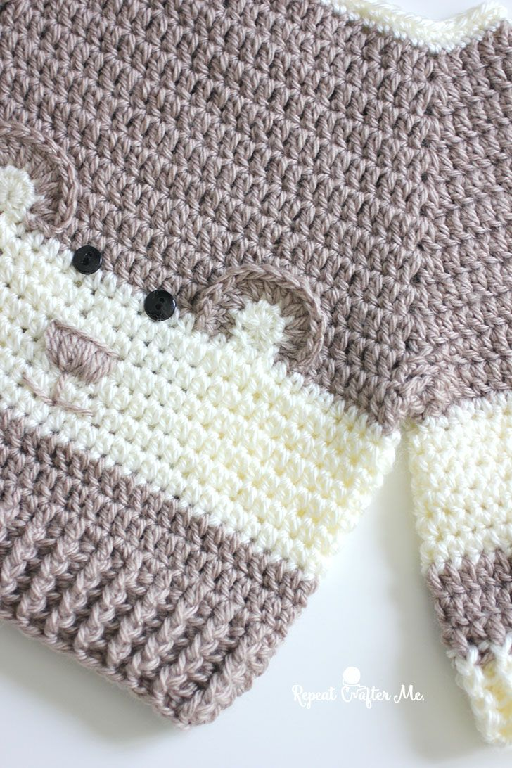 Crochet Character Sweater and Yarnspirations Baby\'s Day Out Lookbook ...