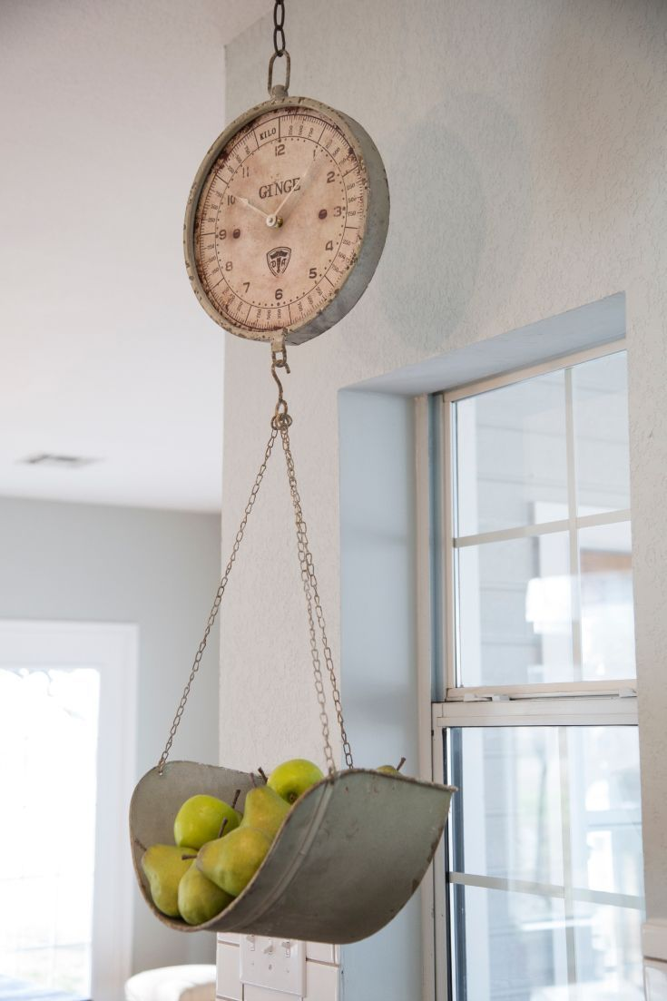 Antique Style Grocery Scale CLOCK~Vintage Style Kitchen Clock~ Home ...