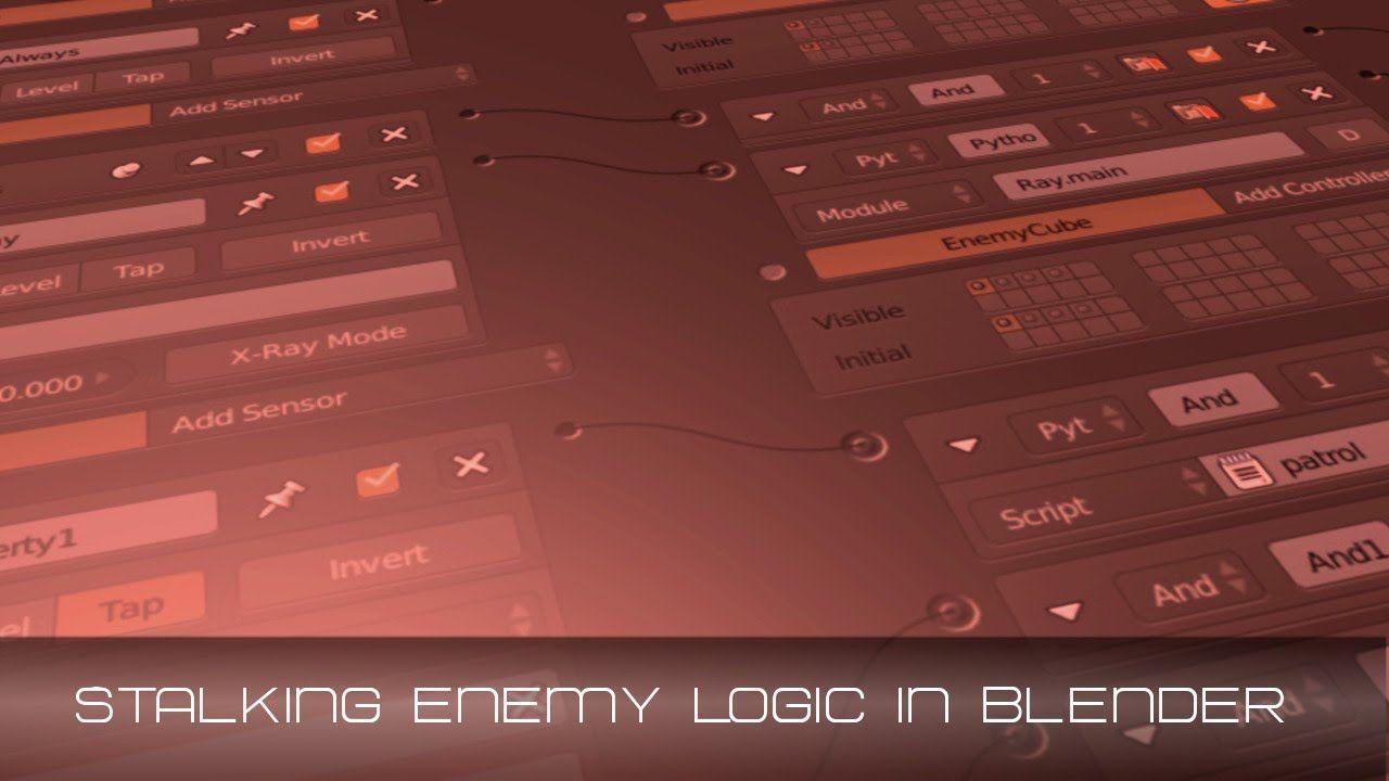 Blender Game Engine Stalking Enemy AI. Game engine