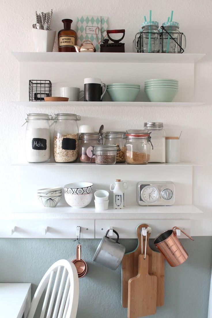 Schönes offenes Küchenregal. #Einrichtung #Küche | Küchen ...