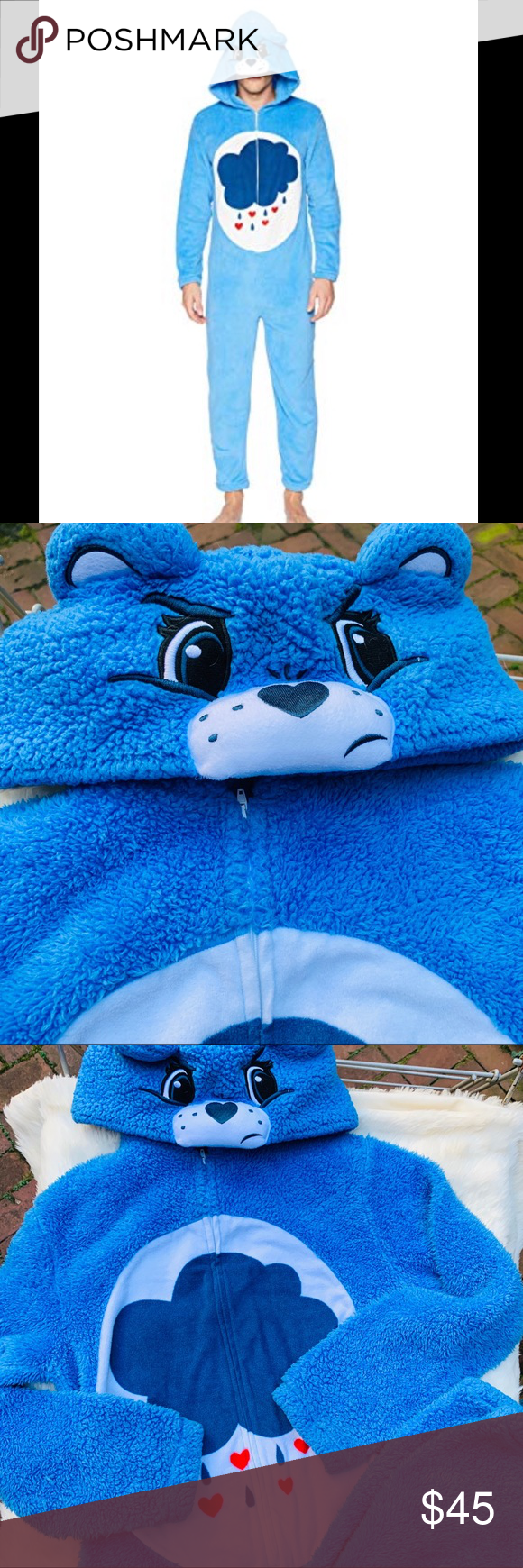 Care Bears grumpy bear union suit onesie Care Bears onesie union suit  Unisex  Size s (fits standard size men's S) Worn one time as Halloween costume  Cozy fleece onesie, soft and plushy feel Cozy and warm  Grumpy care bear suit  100% poly Long sleeves, zipper closure, non footed pants  Perfect for themed party, sleepover, Halloween Intimates & Sleepwear Pajamas #carebearcostume Care Bears grumpy bear union suit onesie Care Bears onesie union suit  Unisex  Size s (fits standard size men's S) #carebearcostume