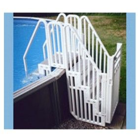 confer entry system for above ground pools blue steps