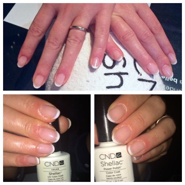 #shellactime #french #almondnails #style #chic