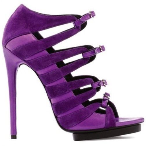 Purple Velour Heels Balenciaga chJimsg