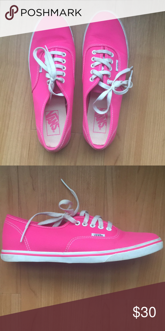 a64cdda2cd Hot Pink Authentic Vans (Lo Pro) Worn only twice. Vans size 8 sneakers Vans  Shoes Sneakers