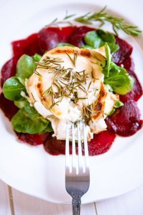 Photo of Beetroot carpaccio with gratinated goat cheese – beetroot rebellion! – Kitchen chaotin