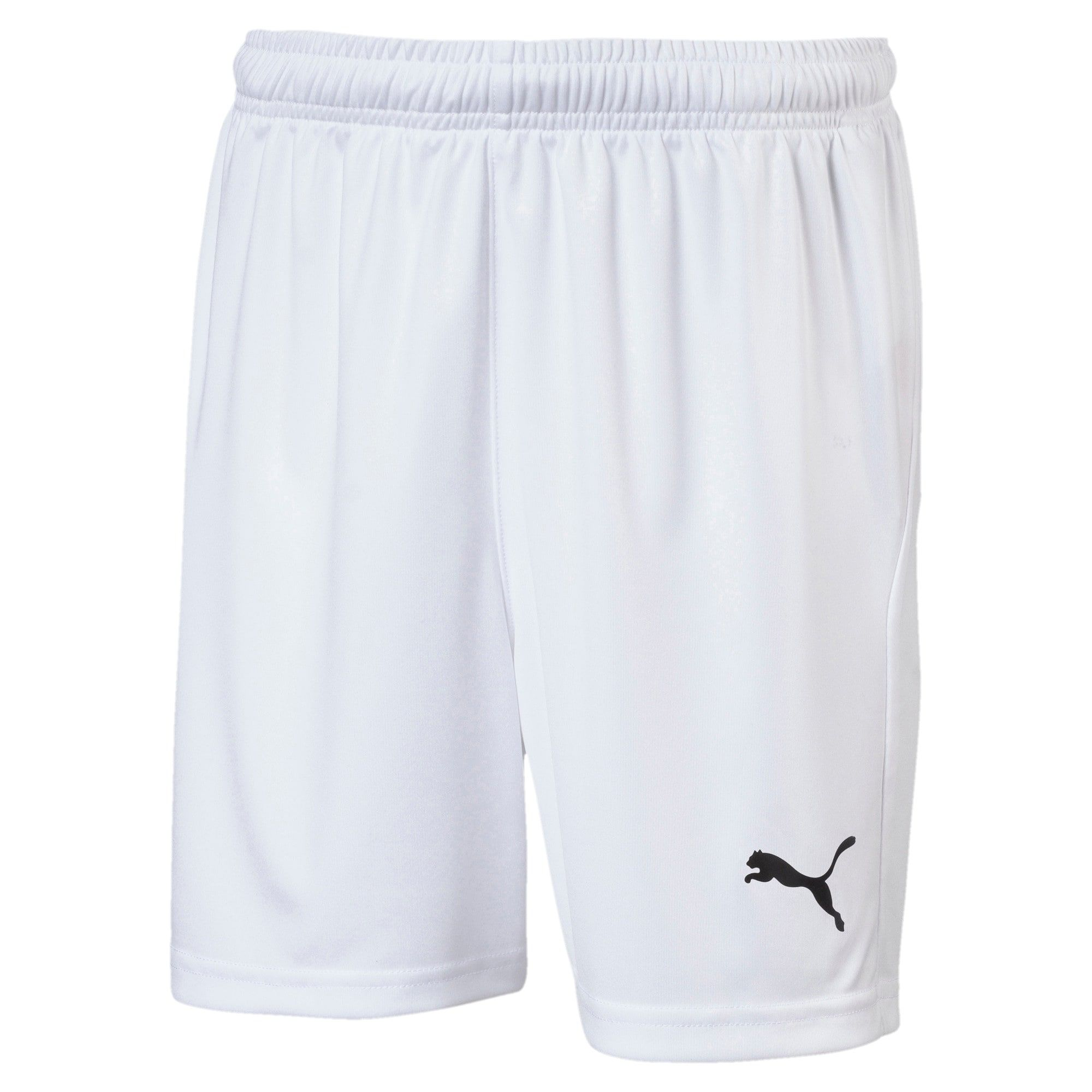Photo of PUMA Liga Core Junior Football Shorts, White/Black, size 7-8 Youth, Accessories