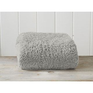 Photo of Ultra Soft, Cozy Solid Sherpa Stretch Knitted Lightweight Bed Blanket (Glacier Gray – Queen/Full – Queen/Full), Great Bay Home