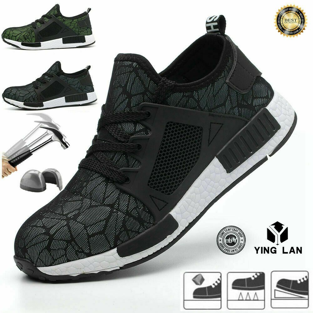 Mens Womens Safety Shoes Work Boots Light weight Cap Steel Toe Trainers  Hiking