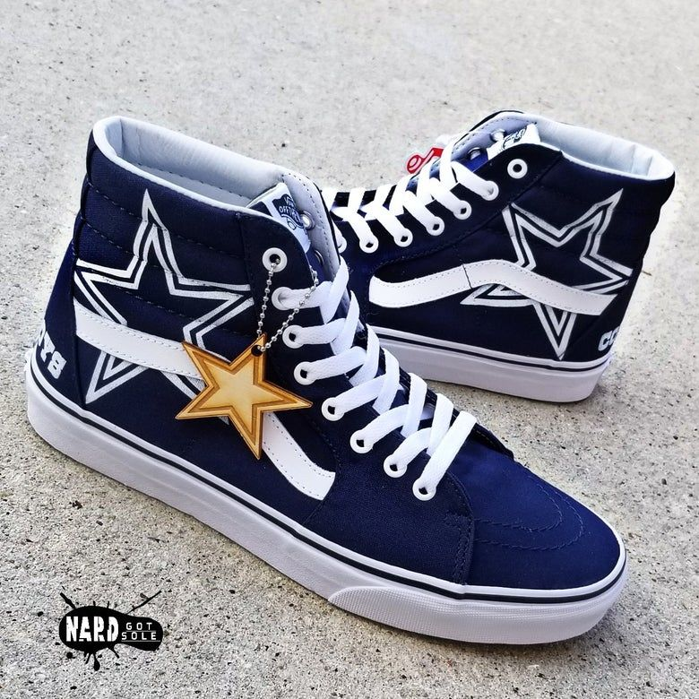Cowboys Vans Hi | Dallas cowboys shoes
