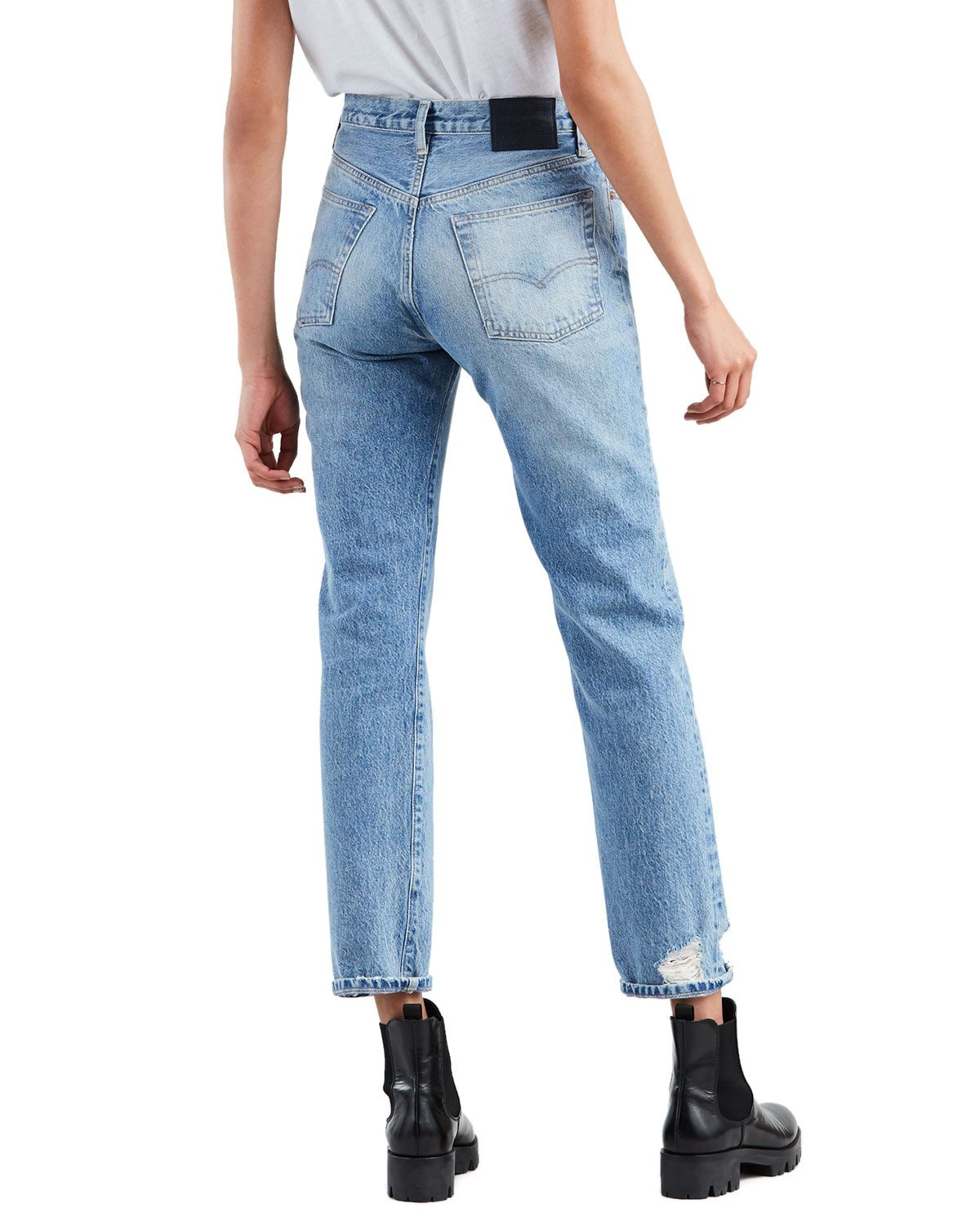 run shoes finest fabrics shop for Levi's 501 High-Rise Straight-Leg Cropped Jeans   Products ...