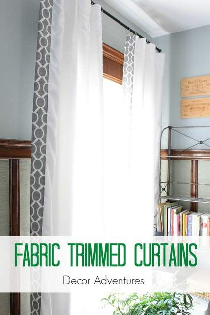 Fabric Trimmed Curtains + The Final Dining Room Project Cortinas