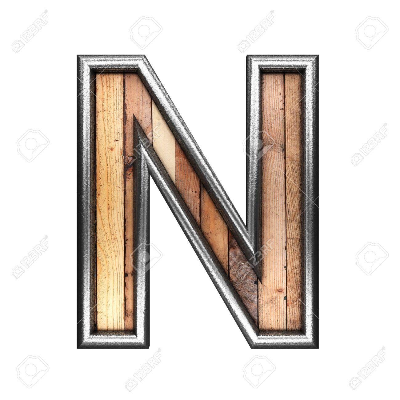 Typography Alphabet Metal Wood Letter N Typography Alphabet Typography Letters Wood Letters