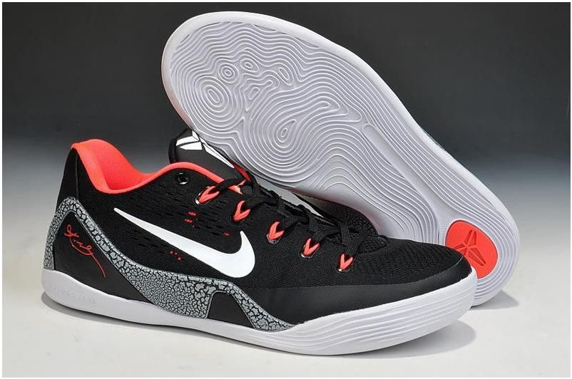 Buy Cheap Nike Kobe 9 Cheap sale Black White-Laser Crimson-Wolf
