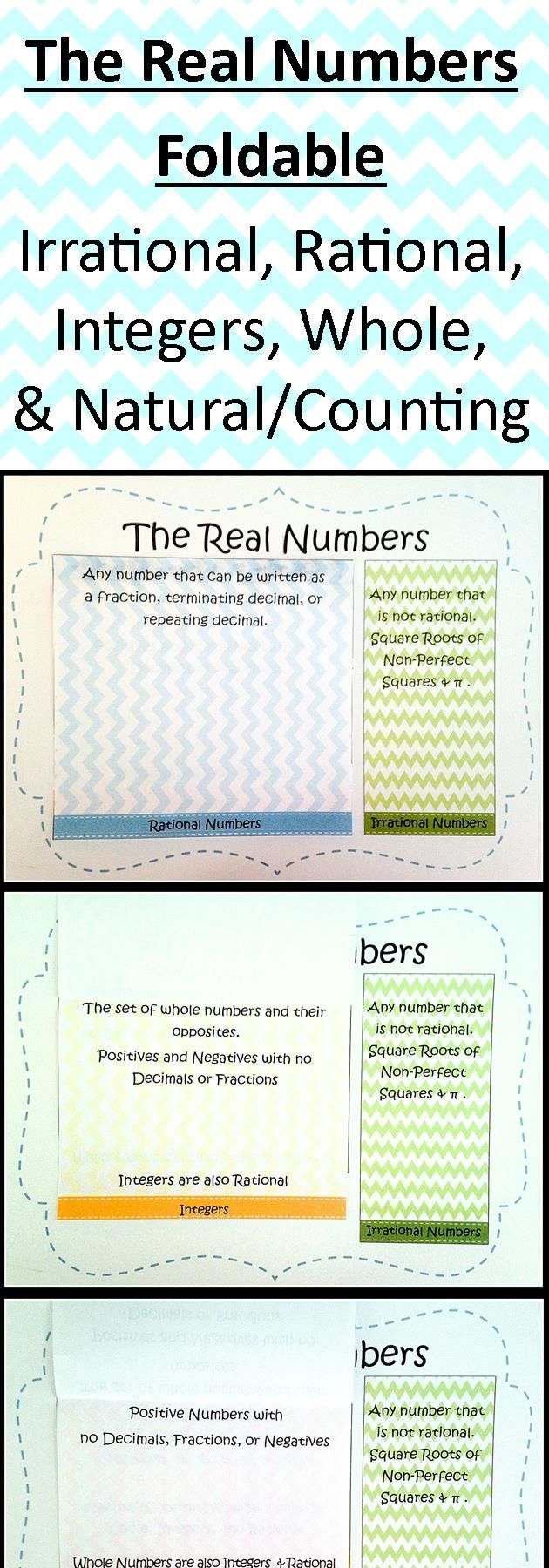 The real numbers foldable irrational rational integers whole fun alternative to the venn diagram method of teaching the real number system pooptronica