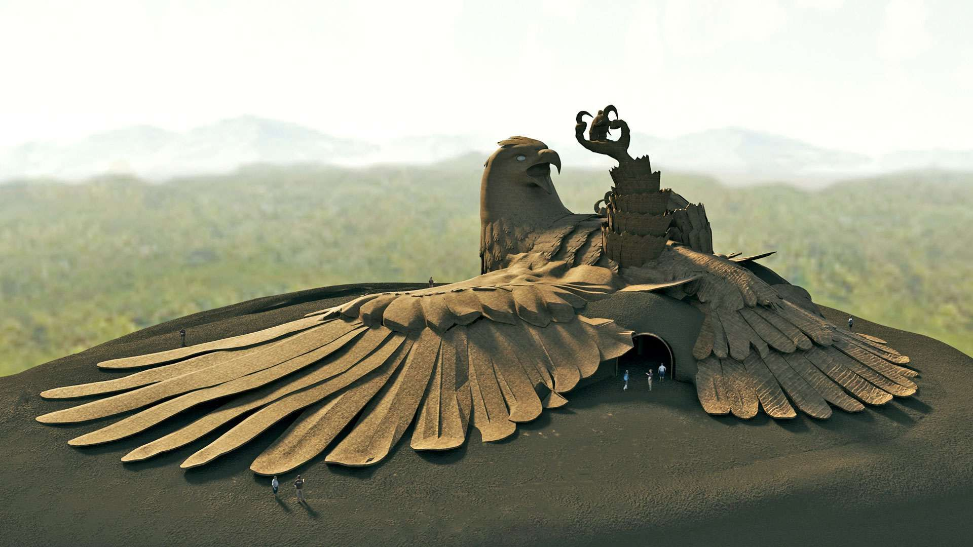 Image result for Do You Know About The World's Largest Bird Sculpture? It's Located In Kerala, India