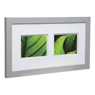 Multiple Image Frame 10x20 Wide Grey With Double Mat 2 5x7 Gallery Solutions Frame Frames On Wall 5x7 Frames