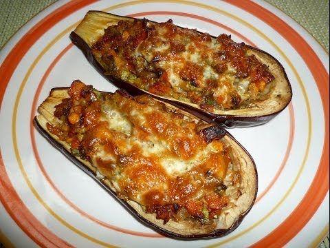 Berenjenas Rellenas Vegetarianas Al Horno Receta Vegetariana Como Preparar Berenjenas Rellenas Recetas Vegetarianas Comidas Con Berenjenas