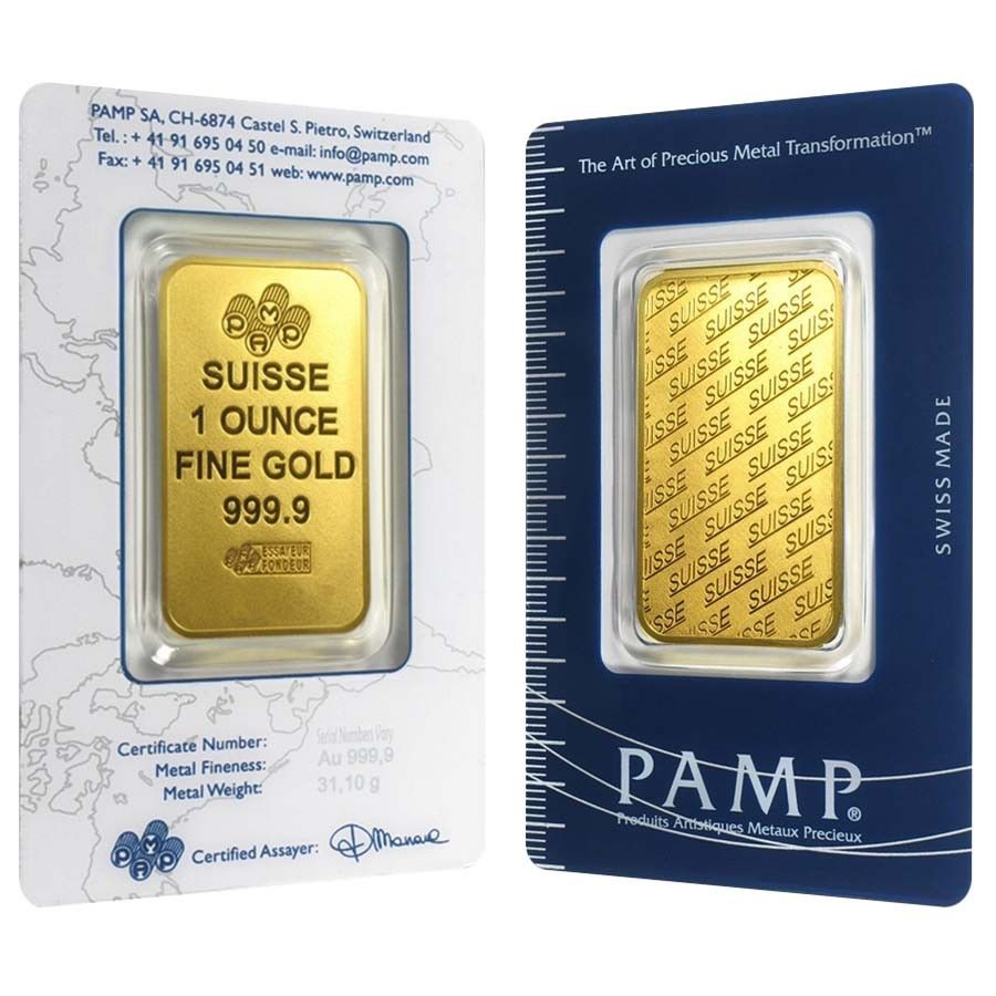Details About 1 Oz Gold Bar Pamp Suisse New Design In Assay Gold Bar Gold Bullion Gold
