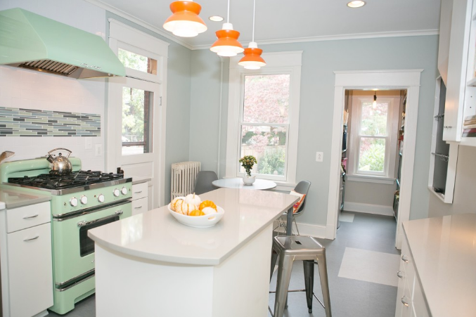 benjamin moore quiet moments blue kitchen | paint colors