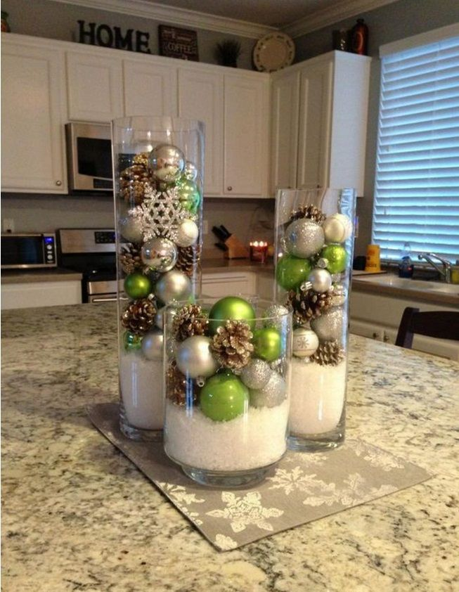 deco noel vase boules