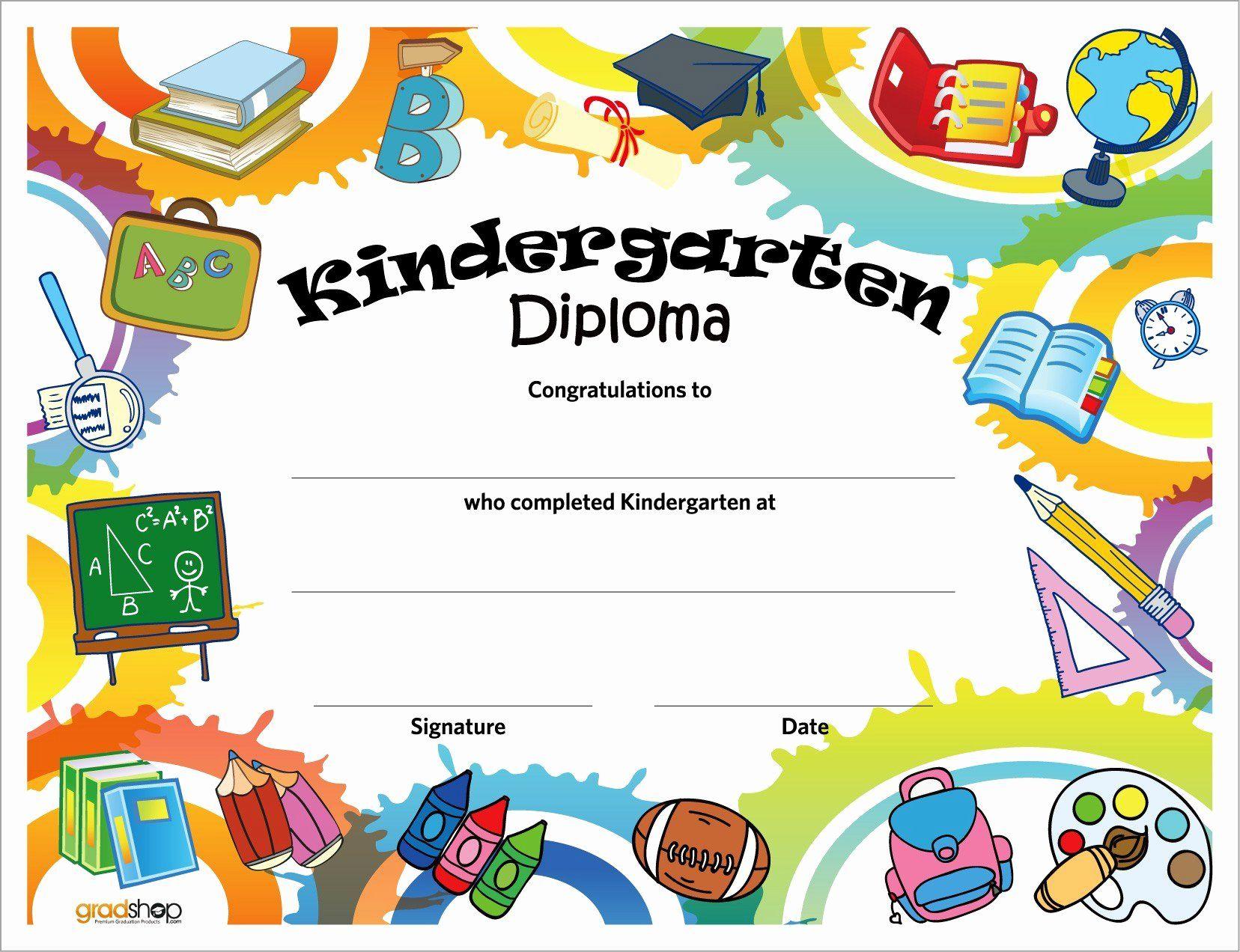 Preschool Diploma Template Word Luxury Kindergarten Diploma Preschool Diploma Graduation Certificate Template Preschool Certificates