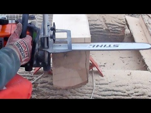 Homemade Chainsaw Sawmill Youtube | WoodWorking
